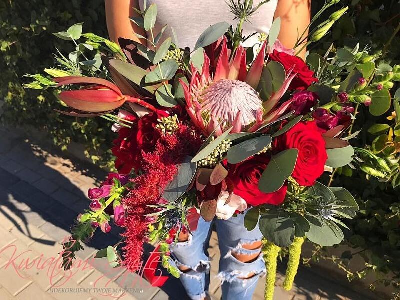 dekoracje kwiatowe Protea