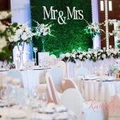 dekoracyjna ścianka na weselu