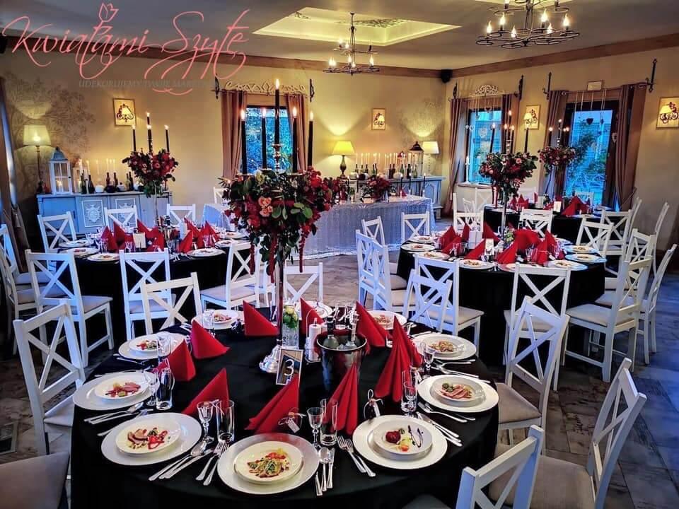 ciekawy wystrój sali weselnej